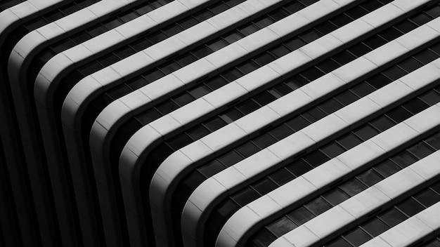 Einfache architektur des modernen gebäudemusters - schwarzweiss Premium Fotos