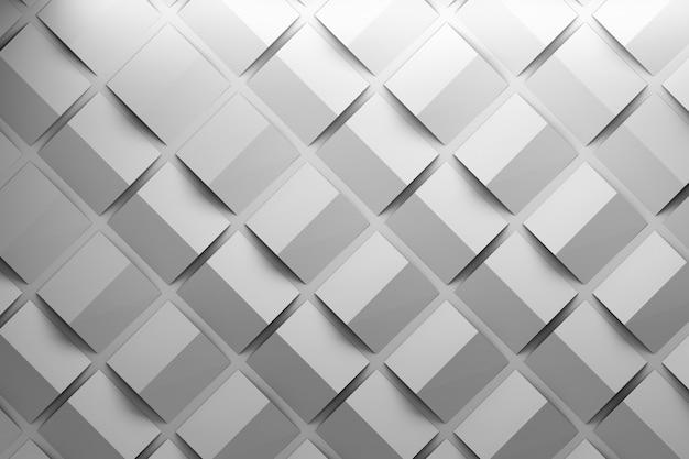 Einfarbiges muster mit gefalteten quadraten. gefaltete grundformen wiederholen. Premium Fotos