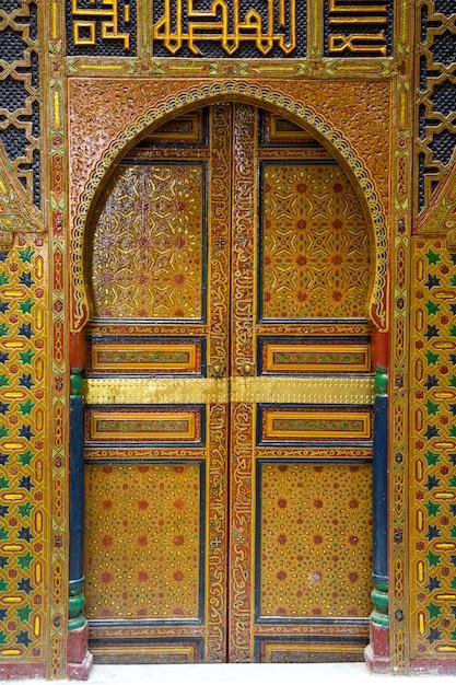 Eingang im marokkanischen stil Premium Fotos