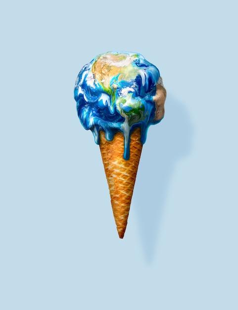 Eiscreme-erde Premium Fotos