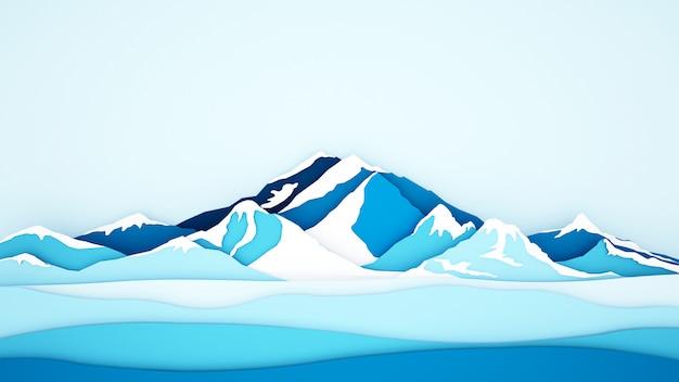 Eisgebirgshintergrund für grafik Premium Fotos