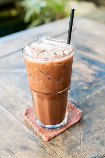 Eisschokolade-milchshake-glas Premium Fotos