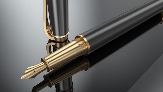 Eleganter business-füllfederhalter Premium Fotos