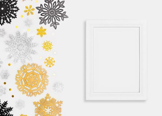 Elegantes weihnachtskonzept mit rahmen Kostenlose Fotos