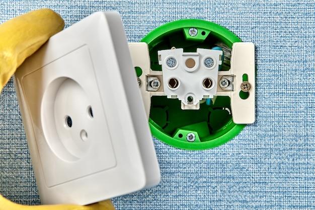 Elektrische dienstleistungen für wohngebäude, einstellung Premium Fotos