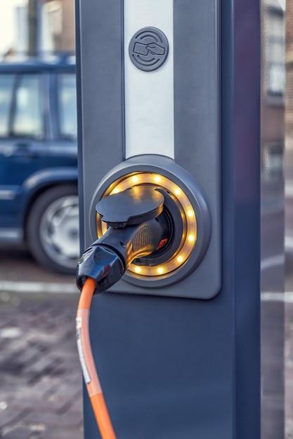 Elektrische mobile ladestation Premium Fotos