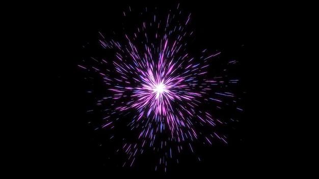 Energieball der abstrakten geometrischen form, fantastische glow-starburst-burst-line-effekte, digitaler grafischer hintergrund der kreativen geometrie Premium Fotos