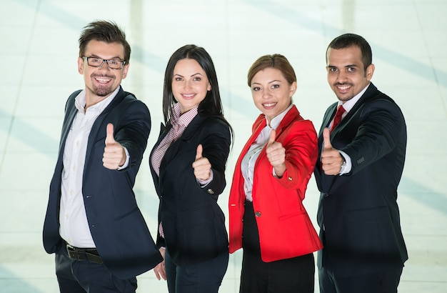 Erfolgreiches internationales business people team. Premium Fotos