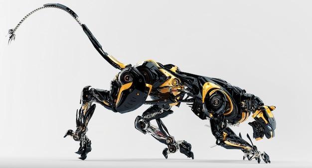 Erstaunlicher roboter-leopard Premium Fotos