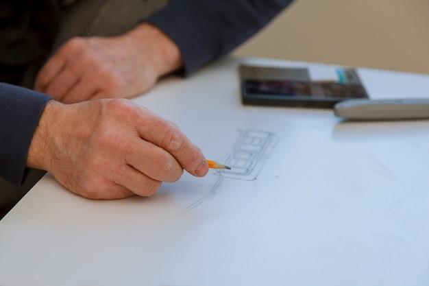 Erste vorbereitungsphase für die projektierung des neubaus Premium Fotos