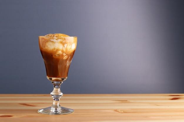 Espesso mit eis affogato kaffee Premium Fotos