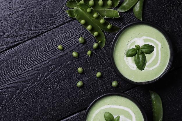 Essen. leckere suppe aus erbsen Kostenlose Fotos