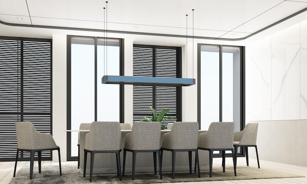 Esszimmer im modernen luxusstil Premium Fotos
