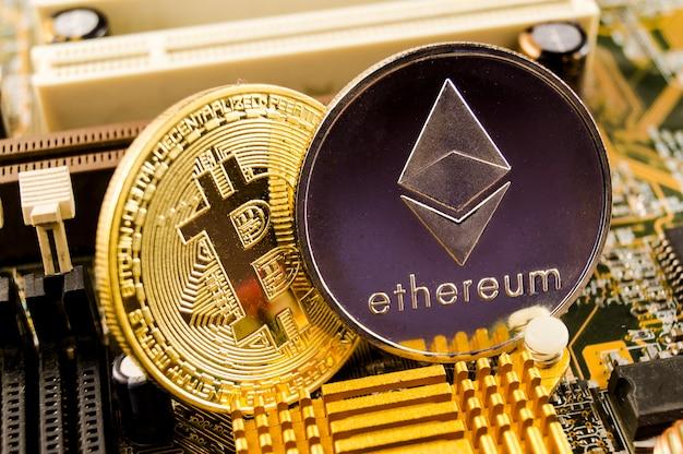 Ethereum ist eine moderne art des austauschs und dieser kryptowährung Premium Fotos