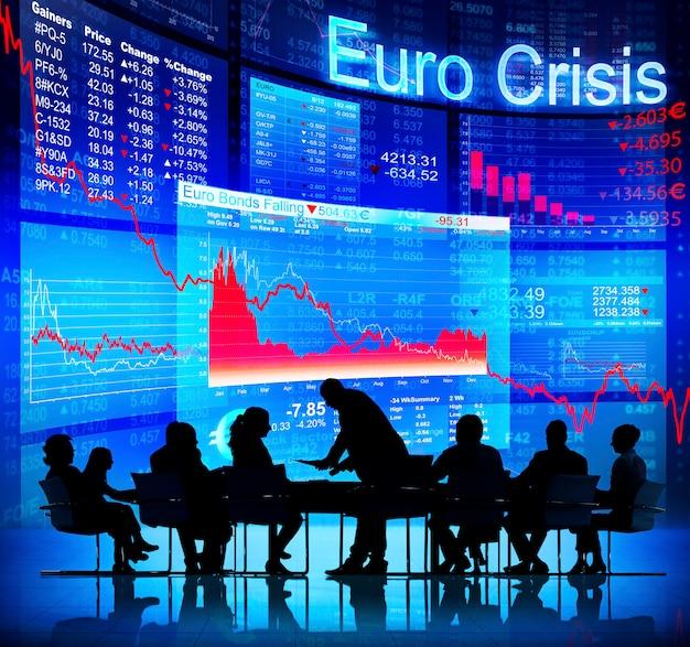 Euro-krise Premium Fotos