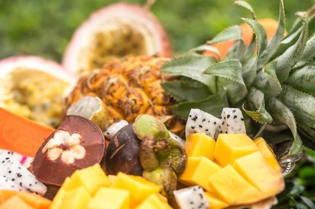 Exotische frucht nahaufnahme auf Kostenlose Fotos