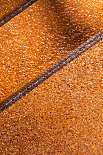 Extreme nahaufnahme orange leder mit schichten Kostenlose Fotos