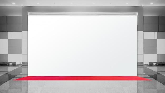 Fabric pop up grundeinheit werbebanner media display banner Premium Fotos