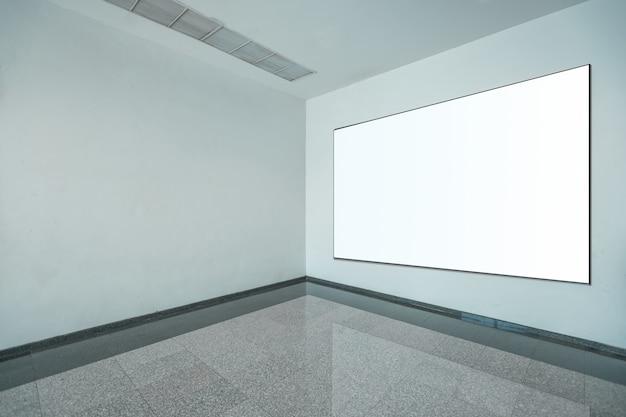 Fabric pop up grundeinheit werbebanner media display hintergrund, leeren hintergrund Premium Fotos