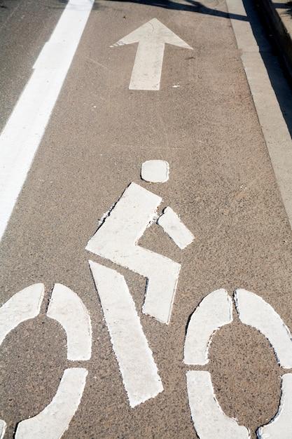 Fahrradweg Premium Fotos