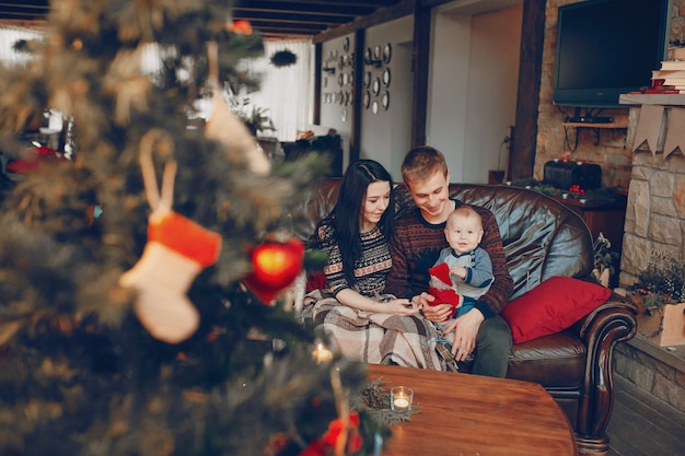 familie sitzt auf der couch mit weihnachtsbaum unscharf vor download der kostenlosen fotos. Black Bedroom Furniture Sets. Home Design Ideas