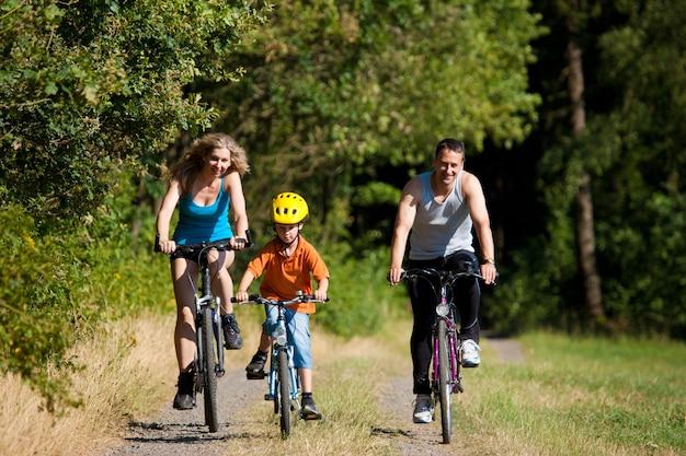 Familienfahrräder für den sport Premium Fotos