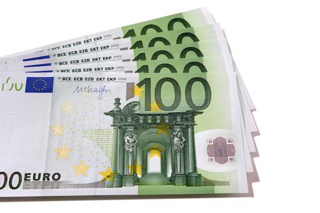 Fan stapel von euro-banknoten Premium Fotos