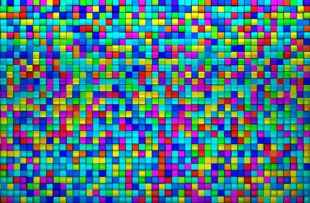 Farbiger draufsichthintergrund des blocks Premium Fotos