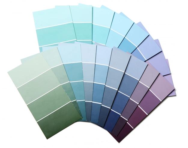 Farbpalette, katalog oder schema und walze Kostenlose Fotos