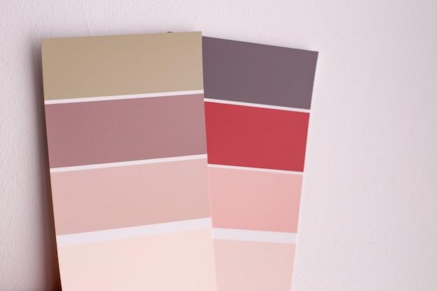 Farbpalette mit verschiedenen mustern. Premium Fotos