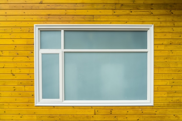 Fensterglas aus holzhaus Premium Fotos