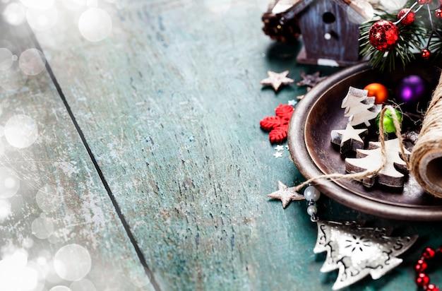 Festliche weihnachtsdekoration Premium Fotos