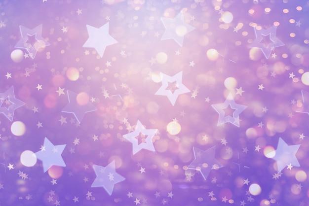 Festlicher abstrakter hintergrund mit blauen sternen. Premium Fotos