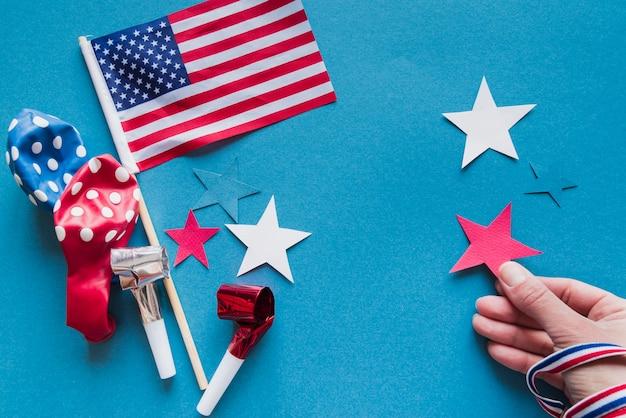 Festliches dekor für den unabhängigkeitstag Kostenlose Fotos