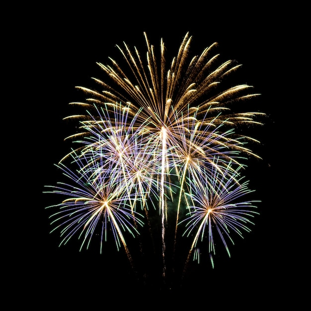 Feuerwerk in den dunklen himmel hintergrund Kostenlose Fotos