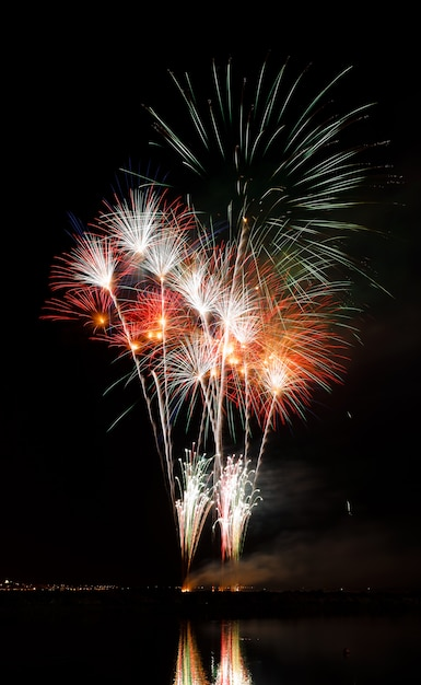 Feuerwerk in der nacht Premium Fotos