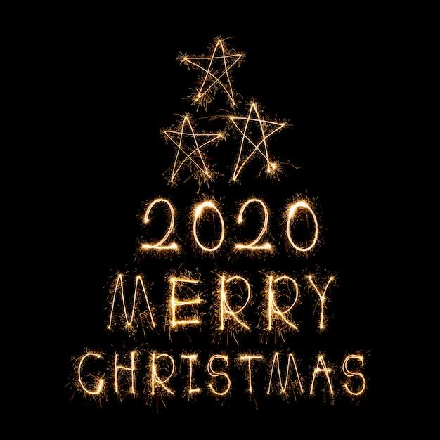 Feuerwerkswörter, die frohe weihnachten tun Premium Fotos