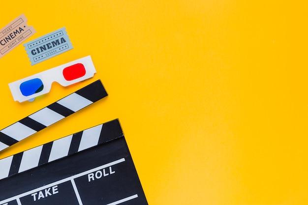 Filmklappe mit gläsern 3d Kostenlose Fotos