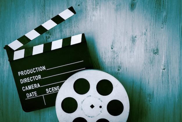 Filmklappen und die filmrolle Premium Fotos