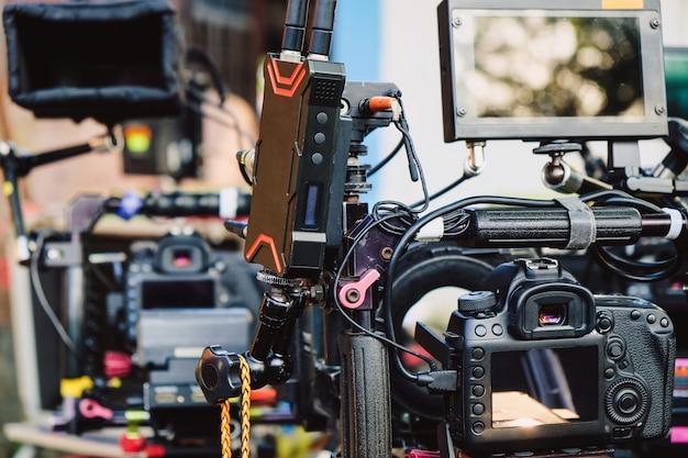 Filmproduktionscrew, hinter den kulissen Premium Fotos