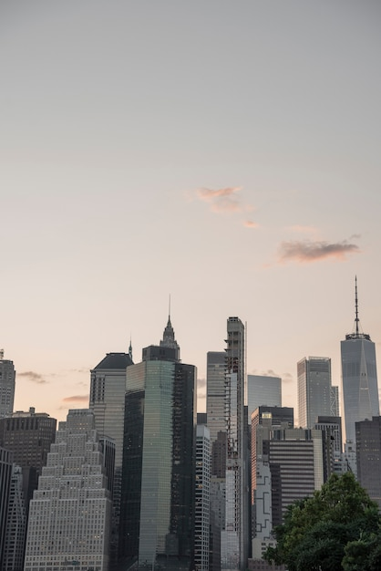 Finanzbezirk new york city skyline Kostenlose Fotos