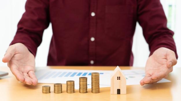 Finanzkonzept für immobilieninvestitionen und hypotheken Premium Fotos