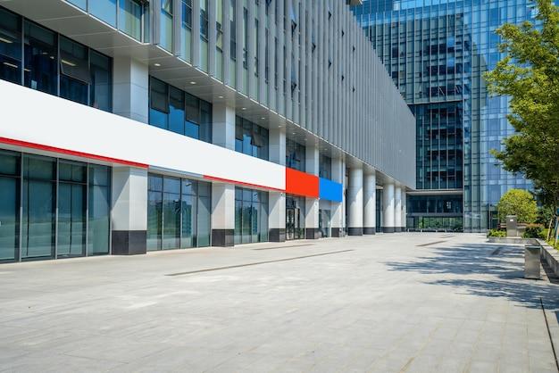 Finanzzentrum plaza und architektur, nanjing, china Premium Fotos