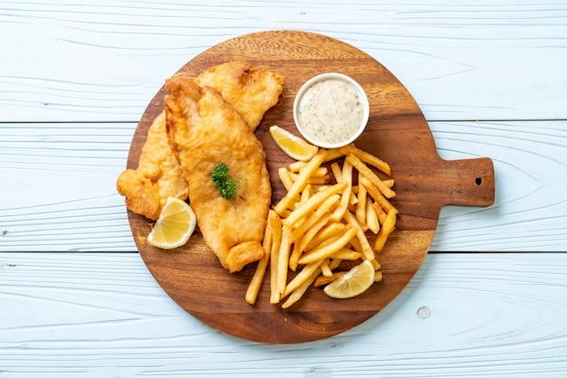 Fisch und pommes frites Premium Fotos