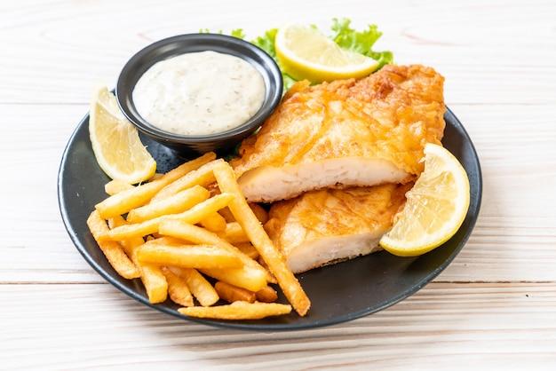 Fisch und pommes Premium Fotos