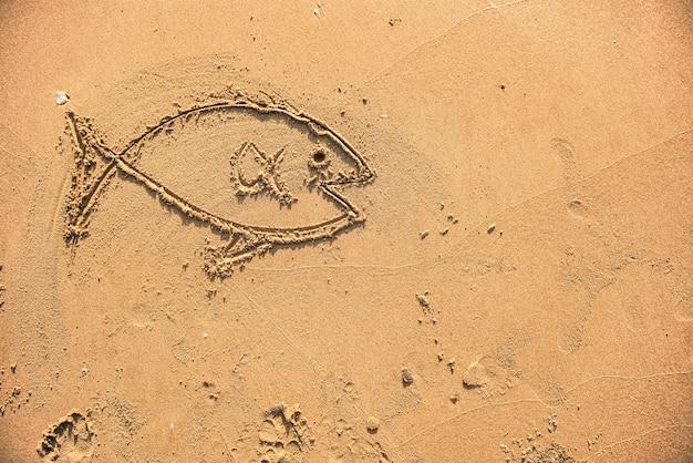 Fische im sand gezeichnet Kostenlose Fotos