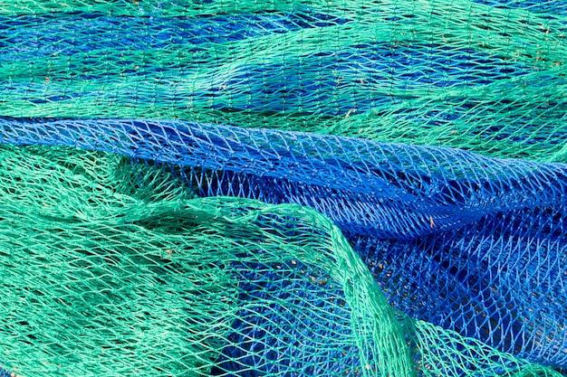 Fischernetze greifen texturen aus dem mittelmeerraum an Premium Fotos