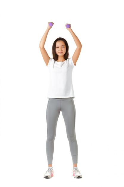 Fitness frau Premium Fotos