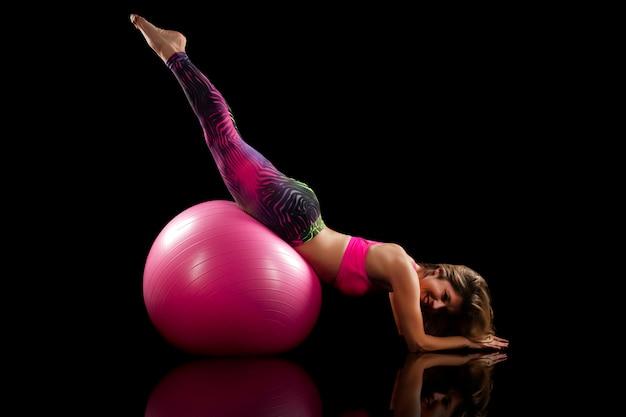 Fitness mädchen übung Premium Fotos