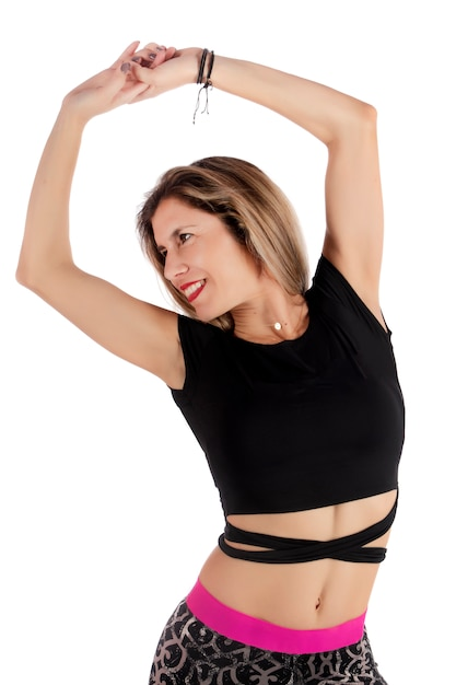 Fitness übung mädchen Premium Fotos